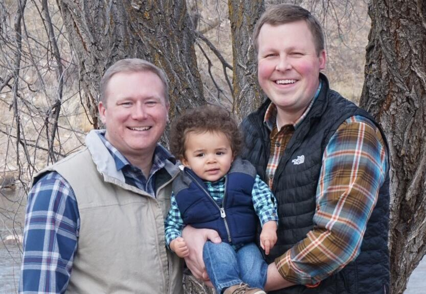 adoptive family Brian and Mike