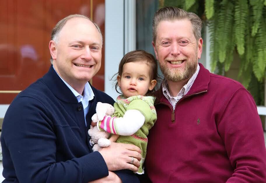 adoptive family Rick and Brian