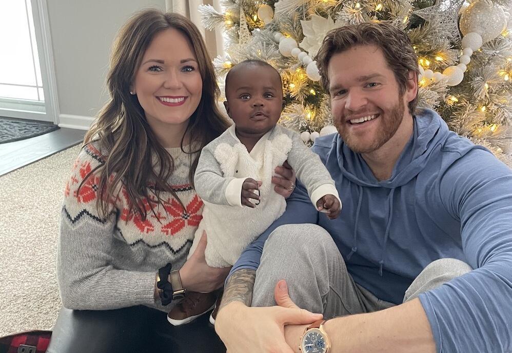 adoptive family Logan and Colleen