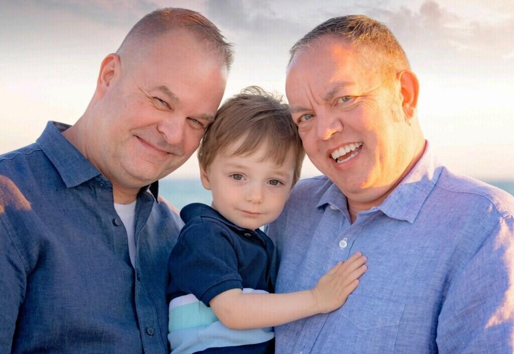 adoptive family Chris and Maury